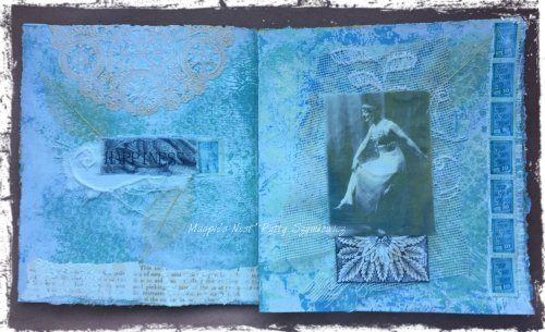 Happiness art journal pages