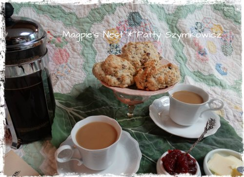 Mixed Berry Scones and French Press Coffee