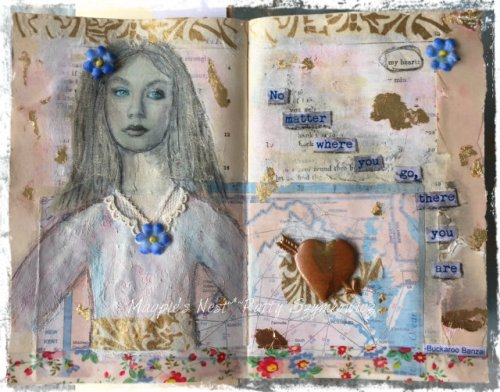 Magpie's Nest Shiny Stuff journal pages
