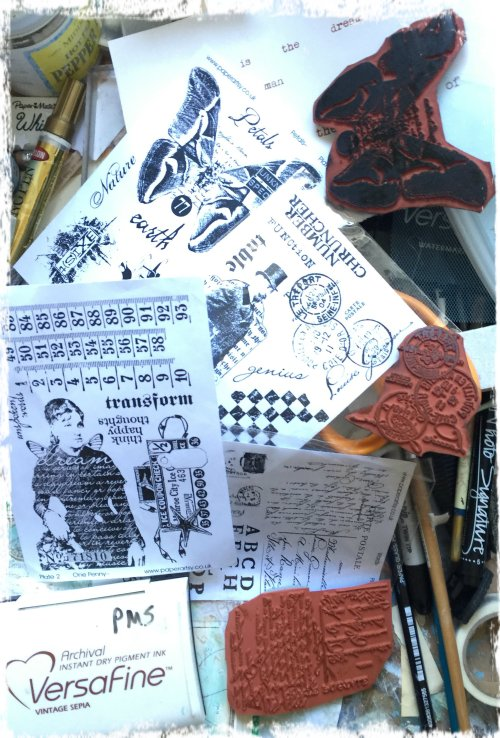 paper artsy stamps