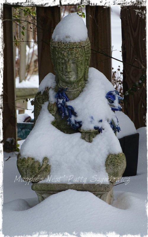 Snow capped Buddha
