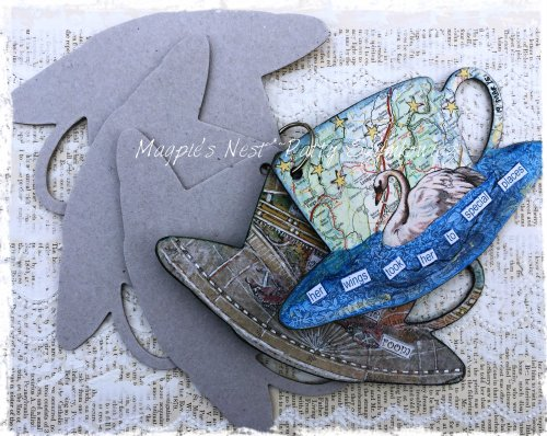 Magpie's Nest chipboard art journal