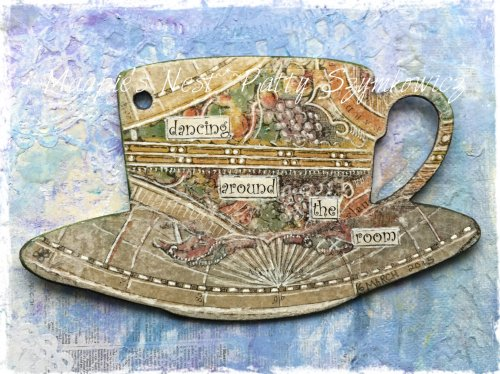 Magpie's Nest dancing tea cup journal
