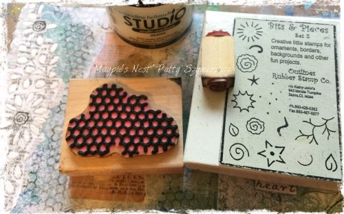 Magpie's Nest nature rubber stamps