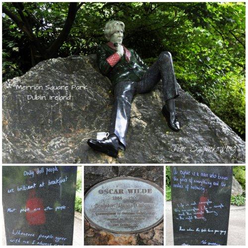Magpie's Nest Oscar Wilde Statue