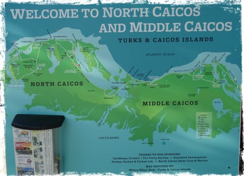 Middle and North Caicos map
