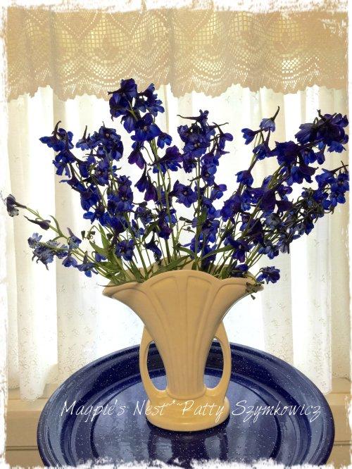 Patty Szymkowicz Delphinium Vase