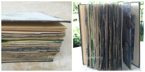 Patty Szymkowicz Gesso Journal pages