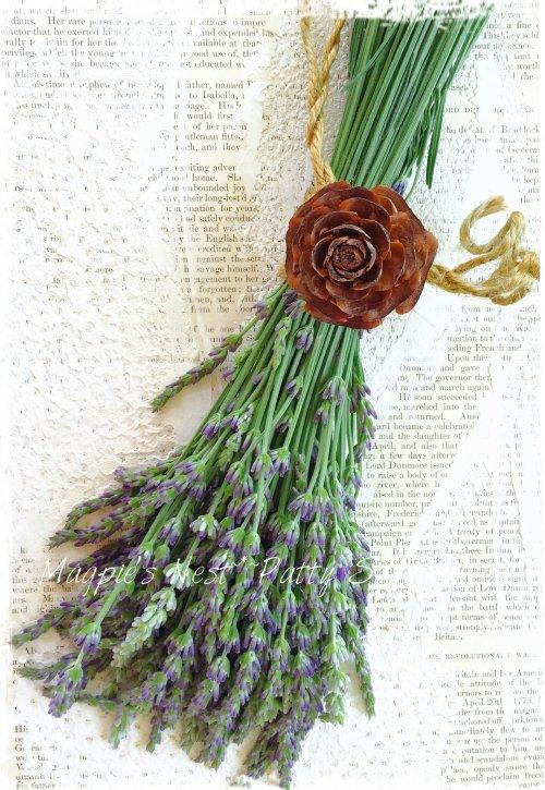 Patty Szymkowicz Lavender Rose Pinecone Twine