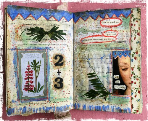 Patty Szymkowicz Tell Me Everything journal pages