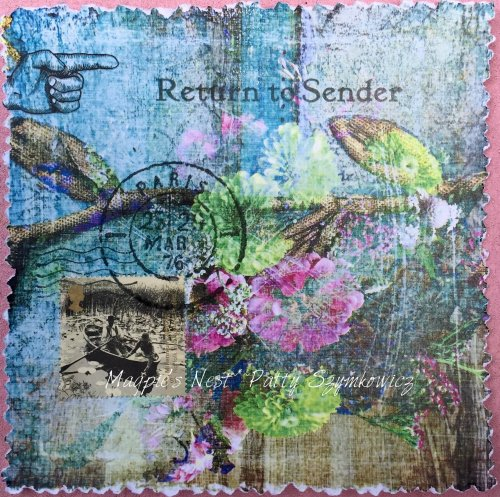 Magpie's Nest Patty Szymkowicz Return to Sender mixed media