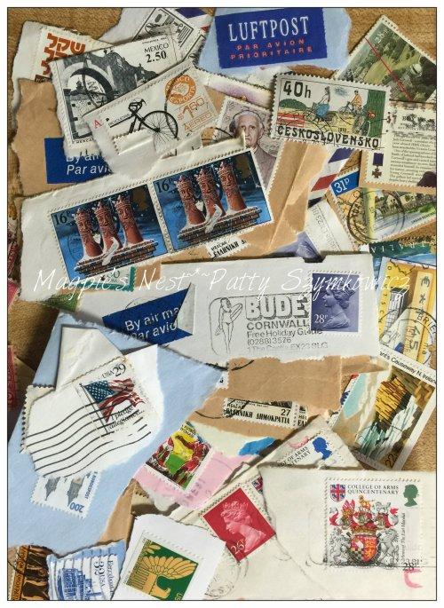 Magpie's Nest Postage Stamp sampler