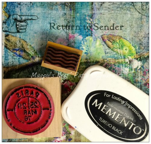 Magpie's Nest rubber stamps