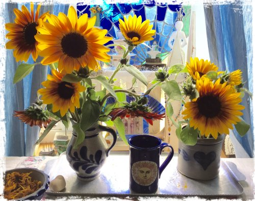 Magpie's Nest Patty Szymkowicz Living Room Sunflowers