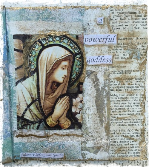 Magpie's Nest Patty Szymkowicz Powerful Goddess journal pages (2)