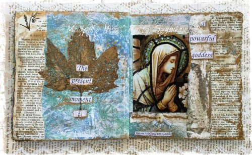 Magpie's Nest Patty Szymkowicz Powerful Goddess journal pages