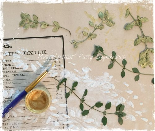 Magpie's Nest Pressed Thyme and Goldens Paint