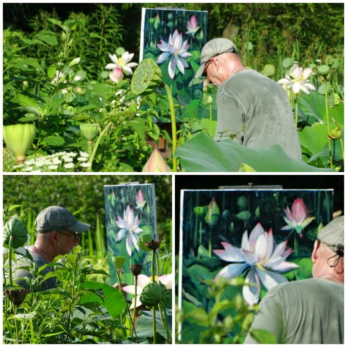 Oil Painter at Kenilworth Aquatic Gardens
