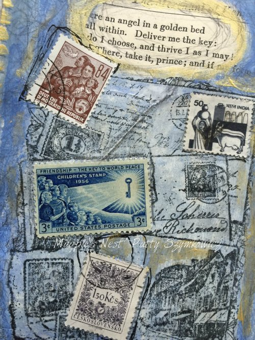 Magpie's Nest Patty Szymkowicz Dawn was breaking art journal pages (1)