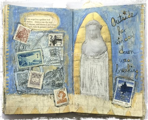 Magpie's Nest Patty Szymkowicz Dawn was breaking art journal pages