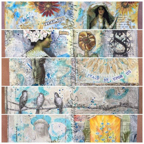 Magpie's Nest Patty Szymkowicz journal pages