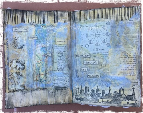 Magpie's Nest Patty Szymkowicz Morning rays of sun journal pages