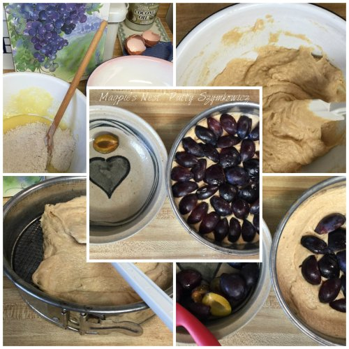 Magpie's Nest Patty Szymkowicz Purple Plum Torte making