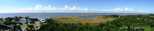 Magpie's Nest Panorama from top of Currituck Island Lighthouse NC