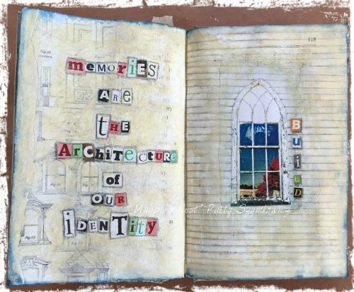 Magpie's Nest Patty Szymkowicz BUILD art journal pages