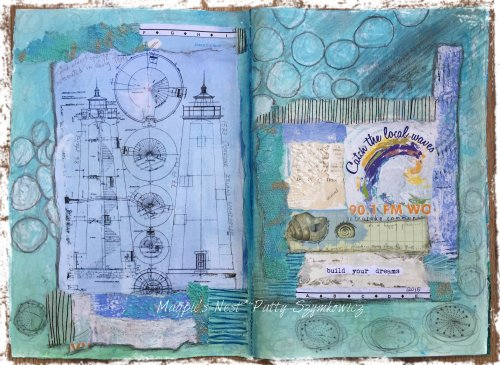 Magpie's Nest Patty Szymkowicz Build Your Dreams art journal pages
