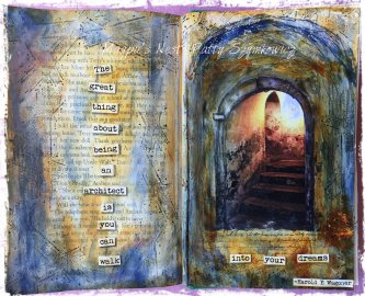 Magpie's Nest Patty Szymkowicz Into Your Dreams journal pages