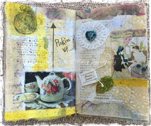 Magpie's Nest Patty Szymkowicz Pinkies Up art journal pages