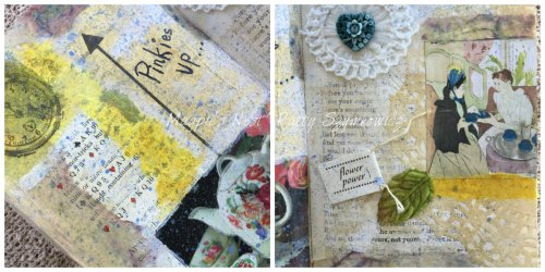 Magpie's Nest Patty Szymkowicz Pinkies up close up pages