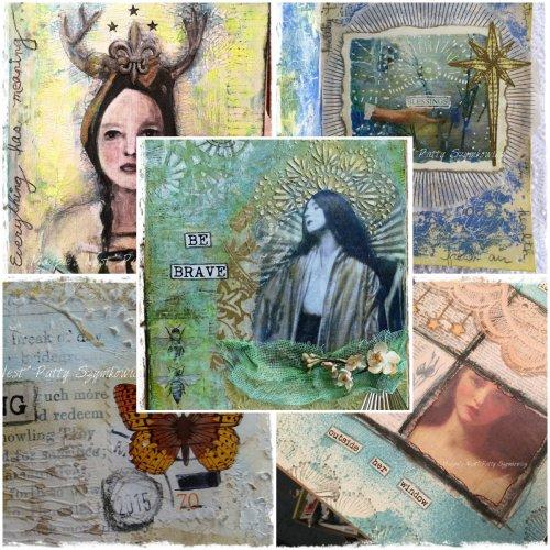 Magpie's Nest Patty Szymkowicz Collage Sampler