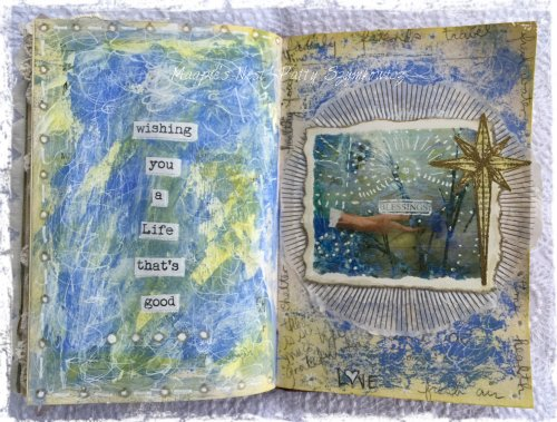 Magpie's Nest Patty Szymkowicz Collage with journaling