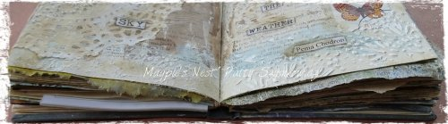 Magpie's Nest Patty Szymkowicz Gesso Journal filling fast