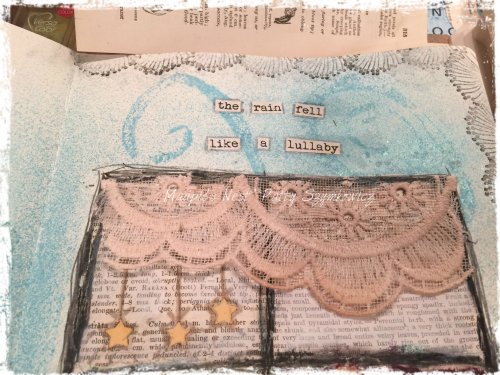 Magpie's Nest Patty Szymkowicz Rain Lullaby pages in the making (2)