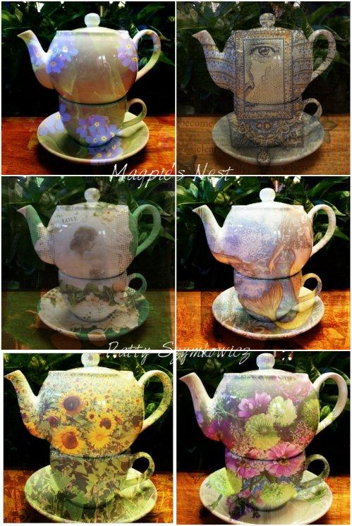 Magpie's Nest Patty Szymkowicz Teapot Pixlr Art