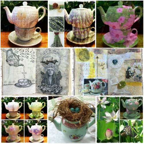 Magpie's Nest Patty Szymkowicz Teapots and Art Journal Pages