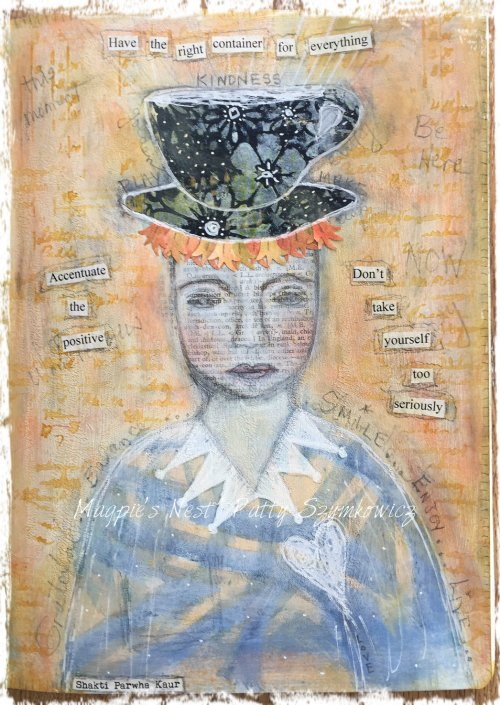 Magpie's Nest Patty Szymkowicz Why So Serious art journal page