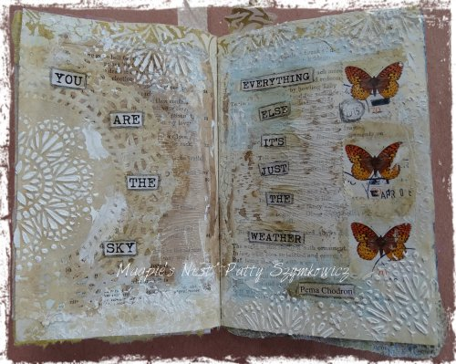 Magpie's Nest Patty Szymkowicz you are the sky journal pages
