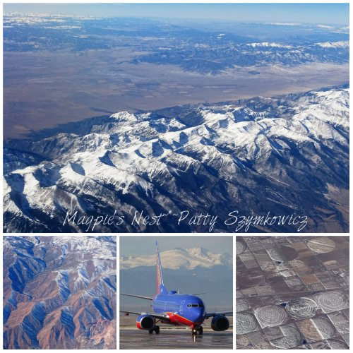Southwest airlines Mountain Views from plane