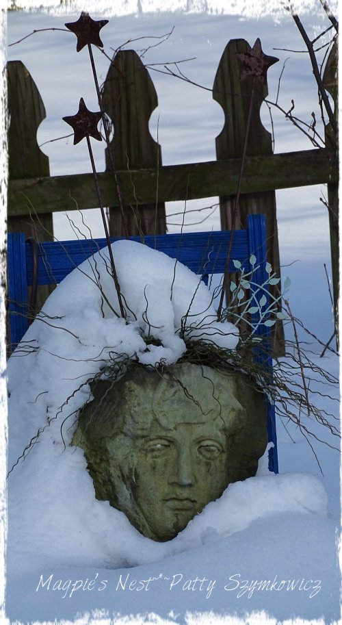 Magpie's Nest Patty Szymkowicz Lady Planter in Snow
