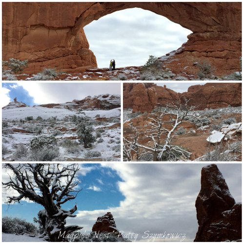 Magpie's Nest Patty Szymkowicz Snow in Arches Nat'l Park Moab