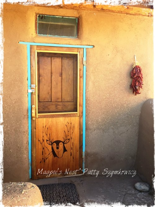 Magpie's Nest Patty Szymkowicz Taos deer door