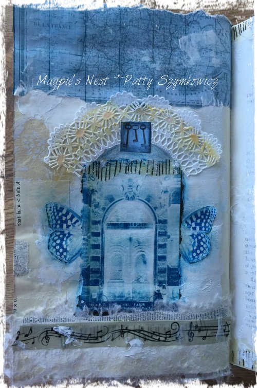 Magpie's Nest Patty Szymkowicz Blue left page