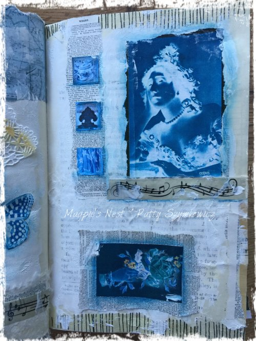 Magpie's Nest Patty Szymkowicz Blue right page
