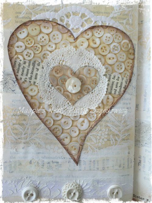 Magpie's Nest Patty Szymkowicz button heart