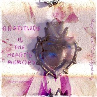 Magpie's Nest Patty Szymkowicz Gratitude heart's memory