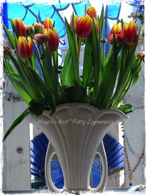 Magpie's Nest Patty Szymkowicz Tulips and Ranunculus